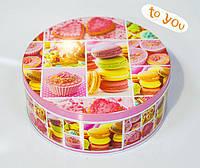 Жестяная коробка для конфет Печенье, 190*76мм
