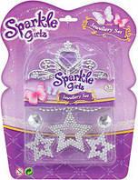 Набор аксессуаров для девочки Sparkle girlz Funville с фиолетовыми стразами (FV75055-2)
