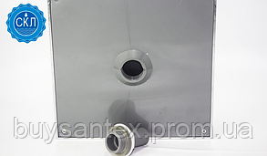 Лейка квадратная, потолочная 180 мм. х 180 мм. ( L-180 ) Хромированная, с съемным штоком., фото 3