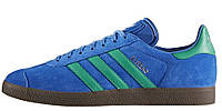 Мужские кроссовки adidas Gazelle (Адидас Газели) синие