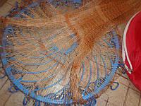 Кастинговая сеть Американка капрон, парашют рыбацкий с кольцом фрисби, диаметр 4.2. м. яч -12 мм