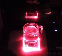 Светодиодная подставка под бокал чашку