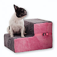 Ступеньки для собак Gray/Pink Double 54x40x36