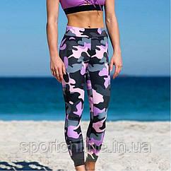 Спортивные лосины (леггинсы) женские Winner Athletics G-157 pink khaki