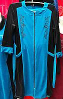 Красивый женский халат больших размеров с вышивкой