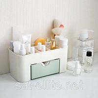 Пластиковый органайзер для косметики  мятный, фото 1