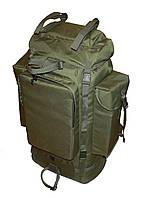 Тактический туристический армейский супер-крепкий рюкзак на 105 литров олива. Армия, рыбалка, спорт, туризм