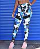 Спортивные лосины (леггинсы) женские Winner Athletics G-158 blue khaki