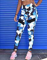 Спортивные лосины (леггинсы) женские Winner Athletics G-158 blue khaki, фото 1