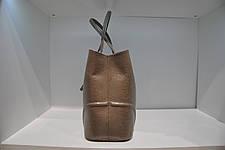 Классическая женская сумка, натуральная кожа бежевой ящерицы taype, 0125-1088, фото 3