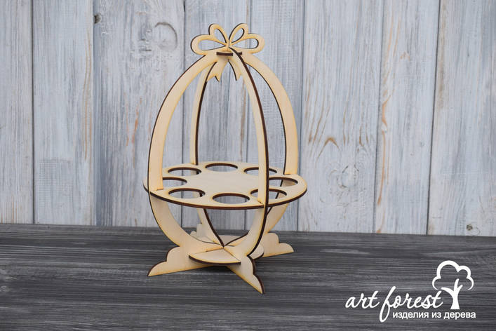 Пасхальная подставка для яиц и кулича, фото 2