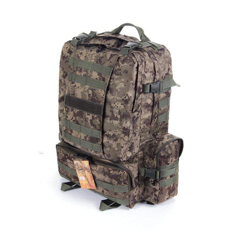 Тактический армейский походный супер-крепкий рюкзак на 50 литров пиксель. Туризм,армия,рыбалка,охота,спорт.