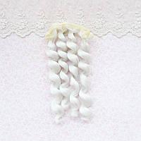 Волосы для кукол кудри в трессах, холодный белый - 15 см