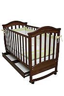 Детская кроватка Верес соня ЛД3 120*60 маятник с ящиком орех