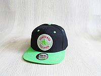 Бейсболка Реперка Convers реплика черная+зеленый унисекс ультрамодная , фото 1