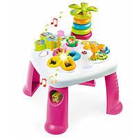 Детский игровой стол Cotoons Цветочек со звуковыми  и световыми эффектами Бело-розовый Smoby (211170)