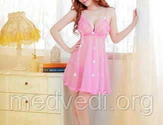 Комплект эротического белья халат + трусы стринги, розового цвета