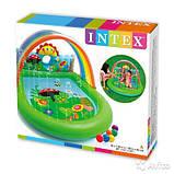 Игровой центр Intex 57421 Радуга с фонтаном 224 х 150 х 99 см, фото 2