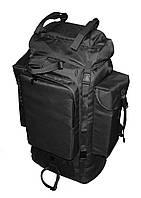 Тактический туристический армейский супер-крепкий рюкзак на 100 литров Черный. Армия, рыбалка, спорт, туризм