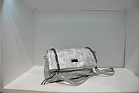 Женская сумка с клапаном, серебро, 0431-4712