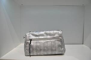 Женская сумка с клапаном, серебро, 0431-4712, фото 2