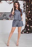 Костюм летний Шорты+Топ в цвете джинс, фото 1