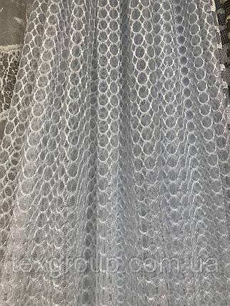 Тюль сетка белая JB-66, фото 2