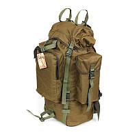 Тактический туристический армейский супер-крепкий рюкзак на 75 литров Койот. Армия, рыбалка, спорт, туризм