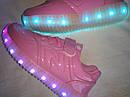 Кроссовки подростковые с подсветкой подошвы и кабелем USB Размер 33, фото 2
