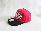 Бейсболка Реперка Chicago репліка червоний+чорний унісекс ультрамодна, фото 3