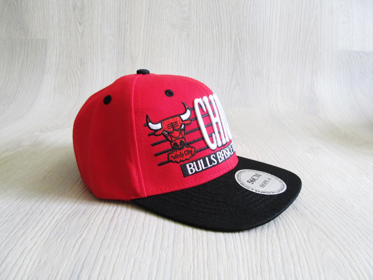 Бейсболка Реперка Chicago репліка червоний+чорний унісекс ультрамодна