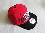 Бейсболка Реперка Chicago репліка червоний+чорний унісекс ультрамодна, фото 4