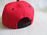 Бейсболка Реперка Chicago репліка червоний+чорний унісекс ультрамодна, фото 5