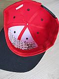 Бейсболка Реперка Chicago репліка червоний+чорний унісекс ультрамодна, фото 6