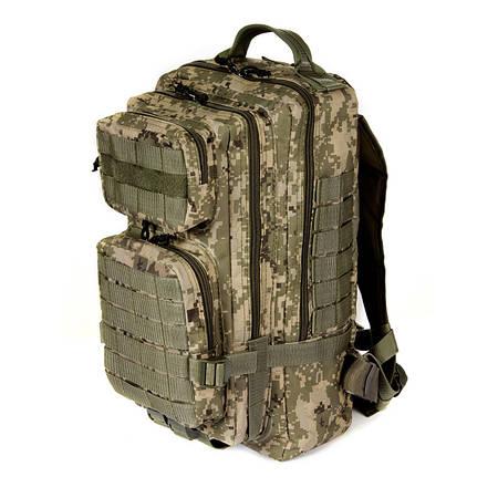 Тактический штурмовой армейский супер-крепкий рюкзак на 25 литров Украинский пиксель. Армия, туризм, спорт