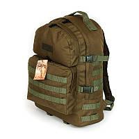 Военный, тактический супер-крепкий рюкзак 40 литров койот. Рыбалка спорт туризм военторг. YKK