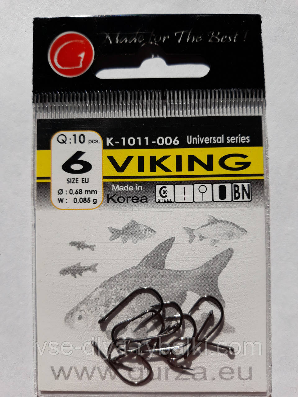 Крючки Gurza viking № 6