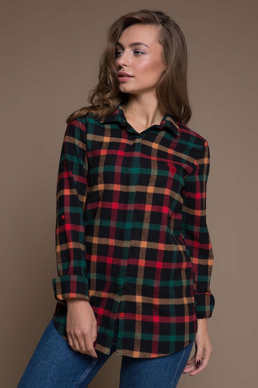c5c23efc55a Стильная женская рубашка красно-зеленую клетку размер L . Жіноча стильна  сорочка - Дочки и