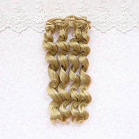 Волосы для Кукол Трессы Кудри ХОЛОДНЫЙ РУСЫЙ 15 см