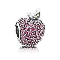 Шарм-паве «Красное яблоко» в стиле Pandora
