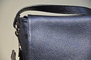 Сумка клатч синяя, натуральная кожа флотар, 1803-1147, фото 2