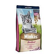 Корм для взрослых кошекMinkas Sterilised стерилизованных 1,5 кг супер-премиум (70301) Happy Cat (Хэппи Кэт)