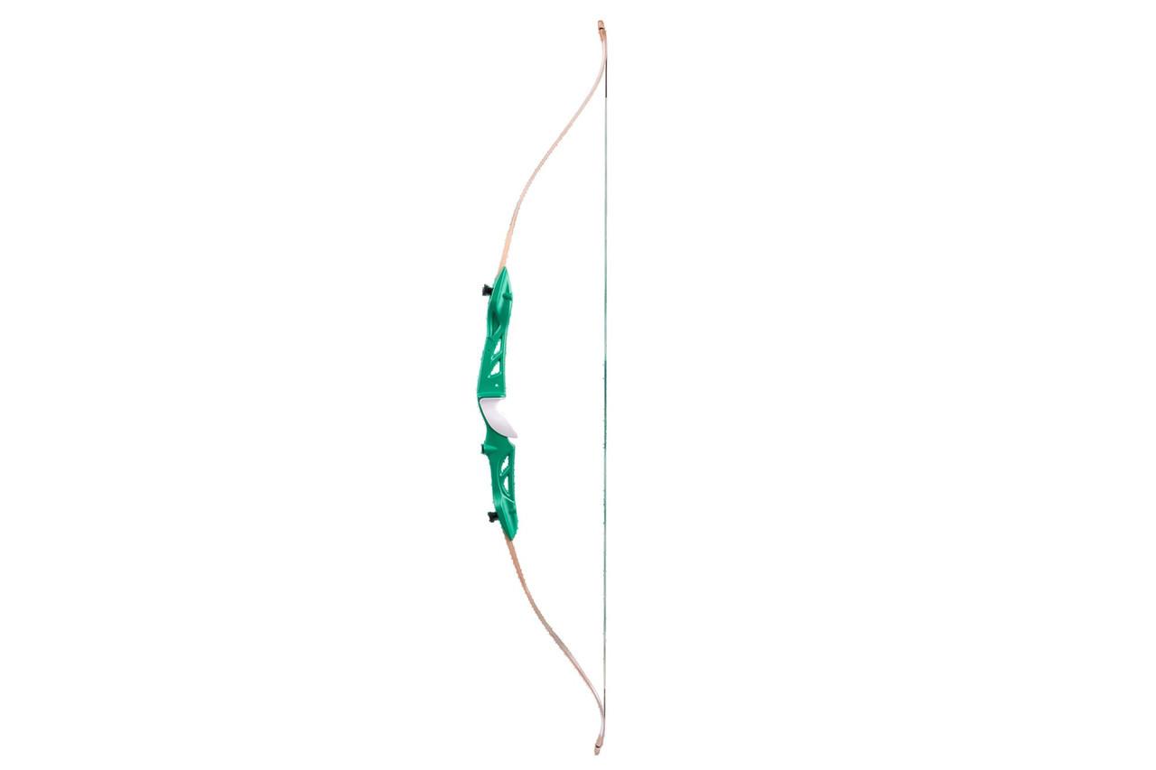 Лук  традиционный рекурсивный  Jandao Jandao 66/24-green-Q ,для  начинающих  лучников