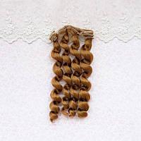 Волосы для Кукол Трессы Кудри ЗОЛОТИСТЫЙ РУСЫЙ ТЕМНЫЙ 15 см