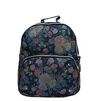 Джинсовый рюкзак с цветочным принтом 5 Рисунков (Коричневые цветы), фото 1