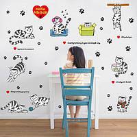 Набор наклеек на мебель декоративных Коты