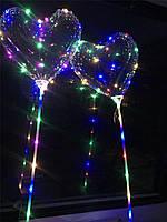 Светодиодный воздушный шар сердце на палочке bobo, фото 1