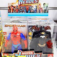 Супергерои Бетмен , Человек паук,Железный человек, Человек-муравей, капитан Америка, Супермен, Человек-молния,