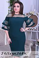 Красивое платье для полных Воланы бутылка, фото 1