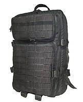 Тактический, штурмовой крепкий рюкзак 38 литров черный. Армия,туризм,рыбалка,спорт,отдых.